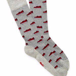 "COLE HAAN ALC119 Novelty "" Shoe Print "" Socks"